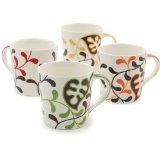 Hues&Brews White 18-Ounce Mugs - Set of 4