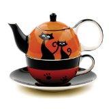 Hues&Brews Cattitude Orange Tea For 1