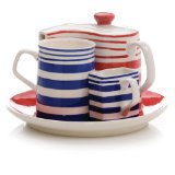 Hues&Brews Stripes Service For 1