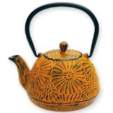 Old Dutch International Cast Iron Rhapsody Teapot - Mustard