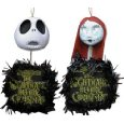 Neca Nightmare Before Christmas Hanging Heads with Wreaths Set of 2