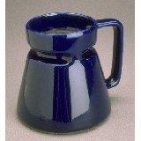 Cobalt Blue Wide Base Ceramic Coffee Travel Mug