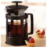 Sierra Black 6 Cup Glass French Coffee Press By Epoca