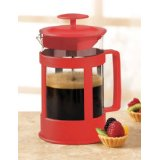 Sierra Red 6 Cup Glass French Coffee Press By Epoca