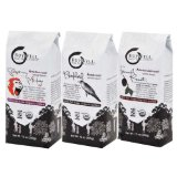 BuyWell Coffee, 100% Fair Trade Organic, Single Origin Sampler Pack: Peru, Guatemala, Sumatra