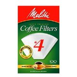Melitta Cone Coffee Filters, White, No. 4
