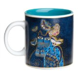 Laurel Burch Indigo Cats Mug