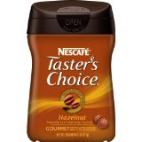 Nescafe Tasters Choice, Hazelnut, 6.1-Ounce Canisters