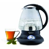 Capresso 260.03 PerfectTea Cordless 48-Ounce Electric Glass Kettle