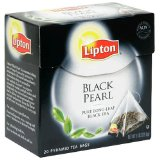 Lipton Black Tea, Black Pearl Pure Long Leaf, Premium Pyramid Tea Bags