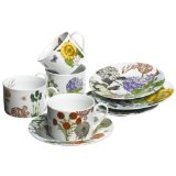 Rosanna Secret Garden Teacups & Saucers