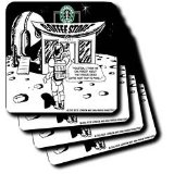 Londons Times Funny Food Coffee other Digestibles - Starbucks Is Everywhere - Coasters