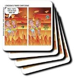 London Times Funny Religion Cartoons - Starbucks in Hell - Coasters