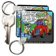 Londons Times Funny Society Cartoons - Nervous Starbucks Driver Gets Citation - Key Chains