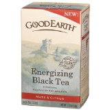 Good Earth Energizing Black Tea, Black Tea, Mate And Citrus