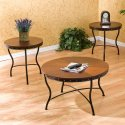 3 Pc Southern Enterprises Coffee Table Set in Cherry