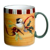 Lenox Winter Greetings Everyday Stoneware Chickadee Mug