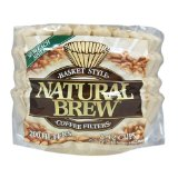 Natural Brew 8-12 Cup Basket Brown Coffee Filters