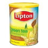 Lipton Sweetened Instant Tea Mix Green Tea Honey & Lemon