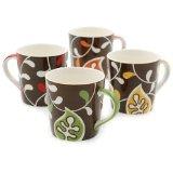 Set of 4 Hues&Brews 18-Ounce Espresso Mugs