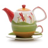 Hues&Brews Dragonflies Tea for One