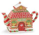 Festive Gingerbread House Teapot for Christmas/Holiday Tea