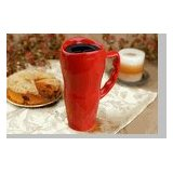 Made in the USA - 20 oz. Ceramic Travel Mug - Red