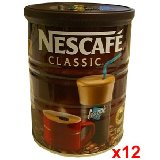 Nescafe Instant Coffee Case of 12 200 gram cans