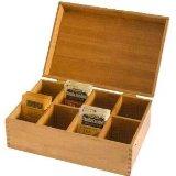 Lipper International 8188 Bamboo Tea Storage Box